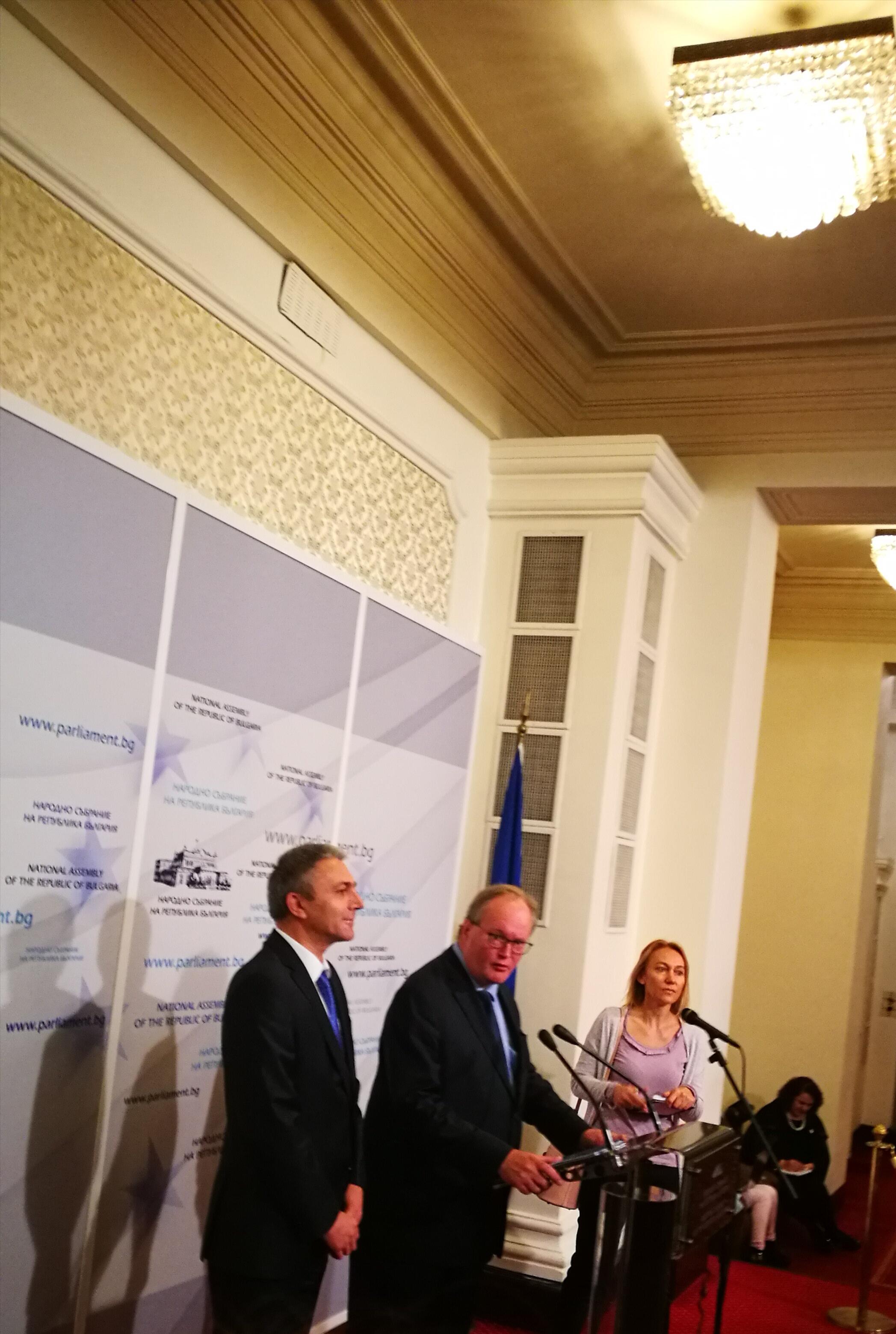 Лидерът на АЛДЕ Ханс ван Баален на посещение в България